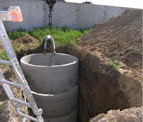 Септик из бетонных колец для бани
