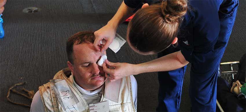 компресс на глаза после сварки