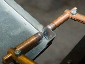 Сварное соединение путём нагрева металла проходящим через него