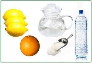 Ингредиенты для купажного сиропа