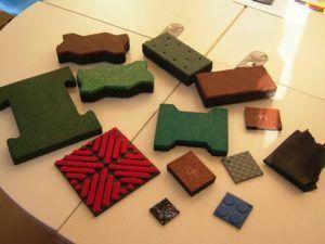 Плитка из каучуковой крошки поражает своим разнообразием