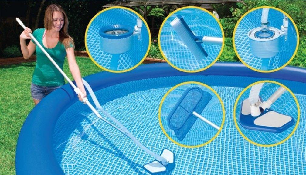 Существует множество видов очистки бассейна