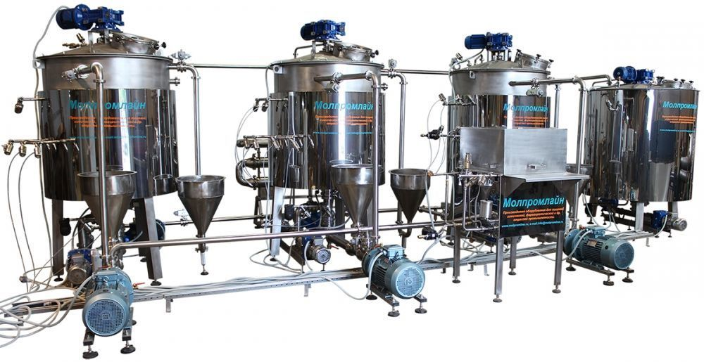 линия производства сгущенного молока