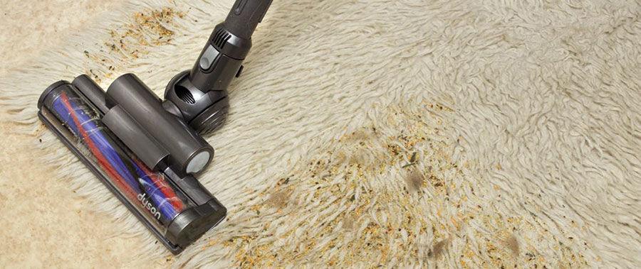 Чистка длинноворсового ковра пылесосом