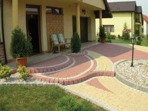 Тротуарная плитка смотрится красиво и эстетично