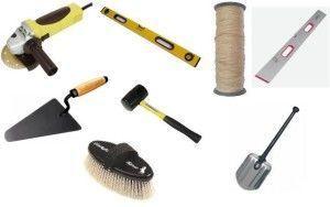 Инструменты которые понадобятся при укладке тротуарной плитки