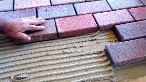 Укладка тротуарной плитки своими руками на клей
