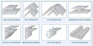 Вспомагательные елементы для монтажа ПВХ вагонки