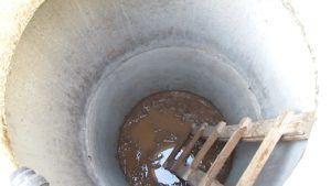 Выгребная яма в виде бетонных колец