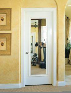 Дверное полотно с зеркалом
