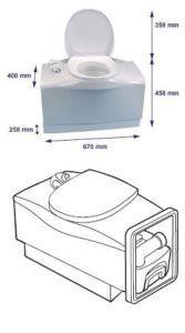 Кассетный туалет C-402С
