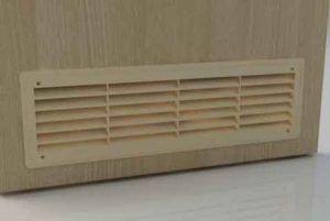 Переточная решетка для вентиляции в двери
