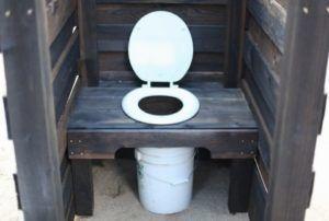 Торфяной туалет своими руками с ведром