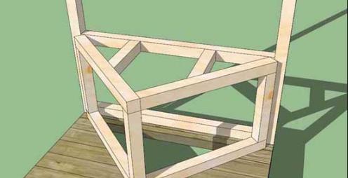 Треугольный подиум для туалета