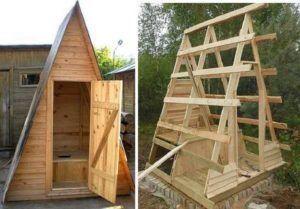 Треугольный туалет на даче