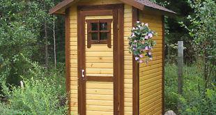 миниатюра туалет со сливом на даче
