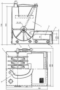 Габаритная схема компостирующего биотуалета
