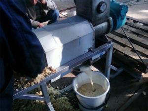 Оборудование для подготовки яблочного сока для вина