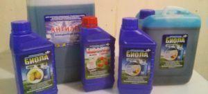 Жидкости для туалетов Биола