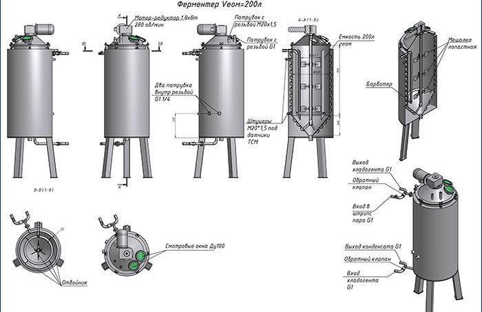 Ферментатор оборудование для брожения кваса